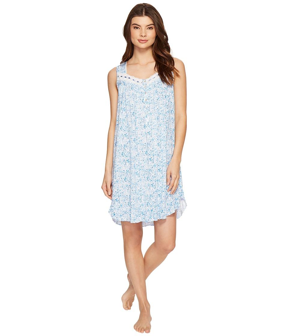 Eileen West - Modal Spandex Short Nightgown (Blue Multi) Women's Pajama