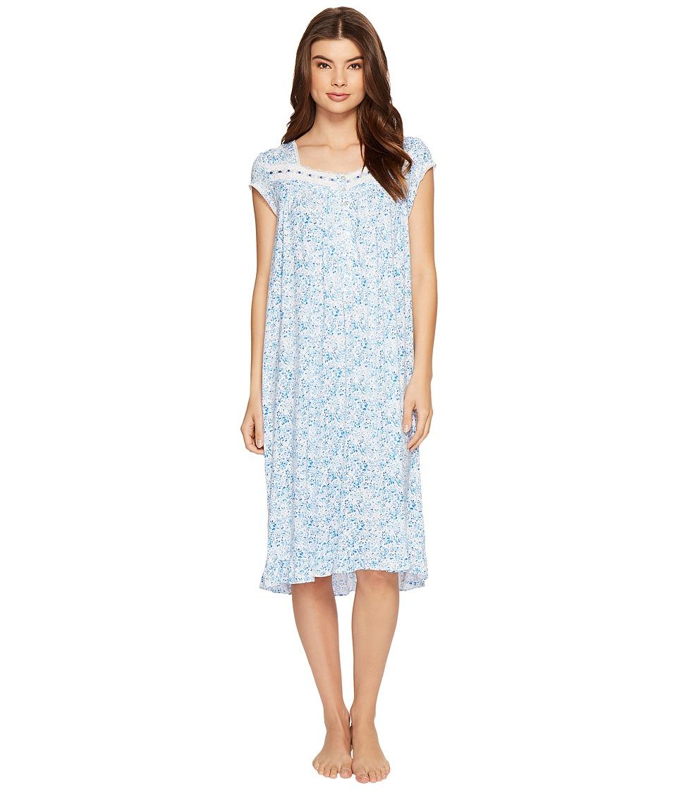 Eileen West - Modal Spandex Waltz Nightgown (Blue Multi) Women's Pajama