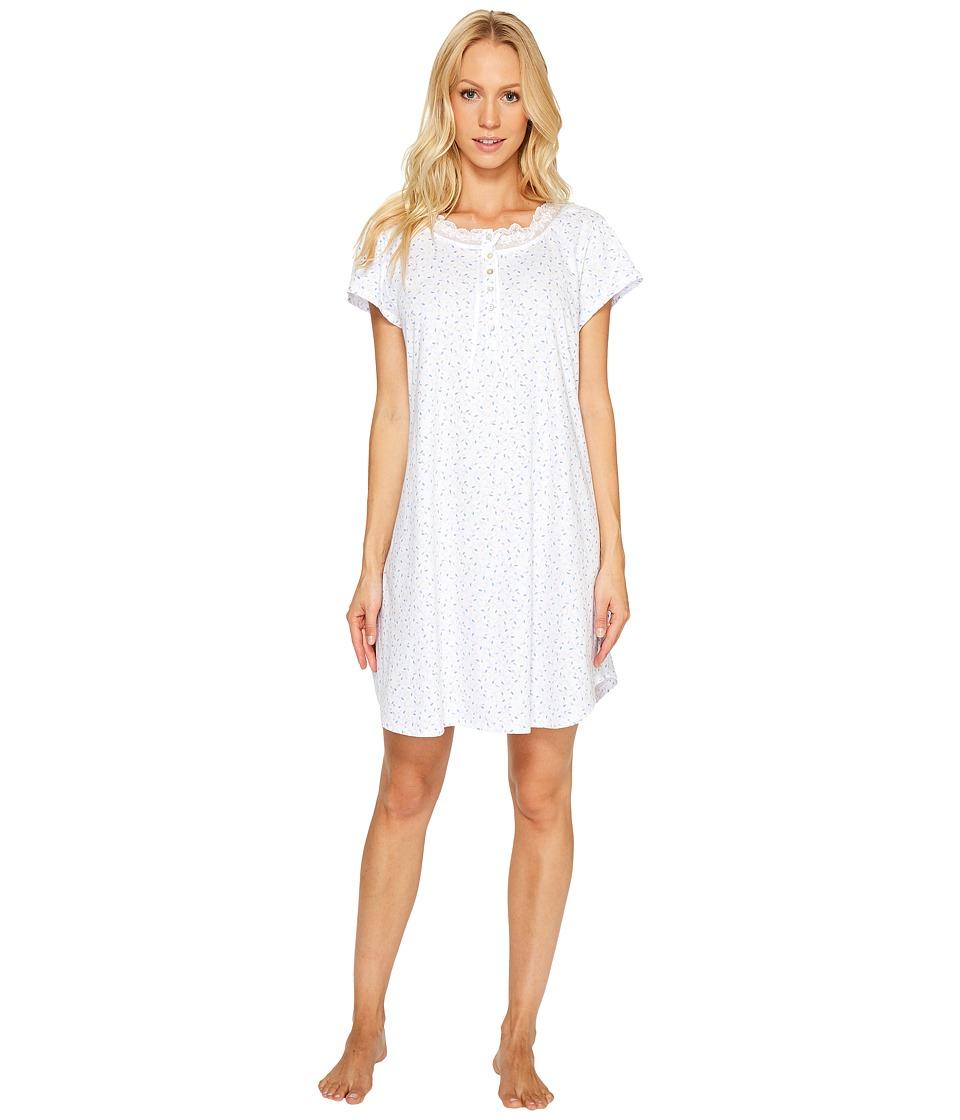 Eileen West - 100% Cotton Jersey Short Sleepshirt (Multi) Women's Pajama