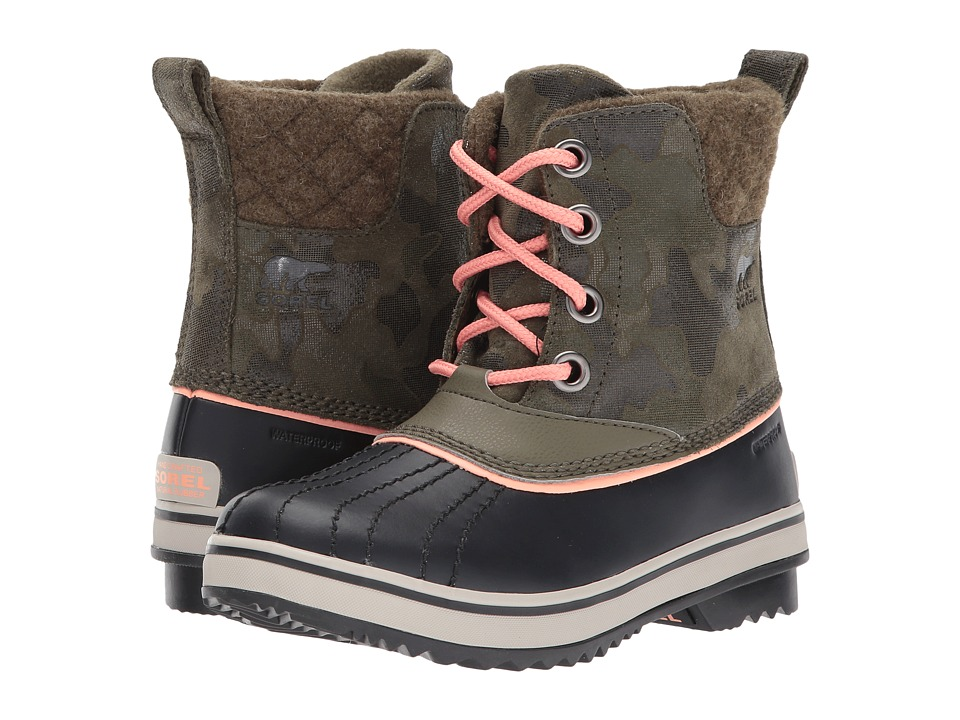SOREL Kids Slimpack II Lace (Little Kid/Big Kid) (Nori/Summer Peach) Girls Shoes