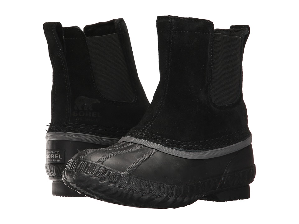 SOREL Kids Cheyanne II Chelsea (Little Kid/Big Kid) (Black/Dark Grey) Boys Shoes