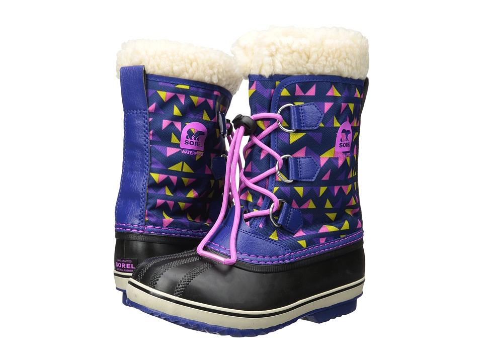 SOREL Kids Yoot Pac Nylon Print (Little Kid/Big Kid) (Aviation/Foxglove) Girls Shoes