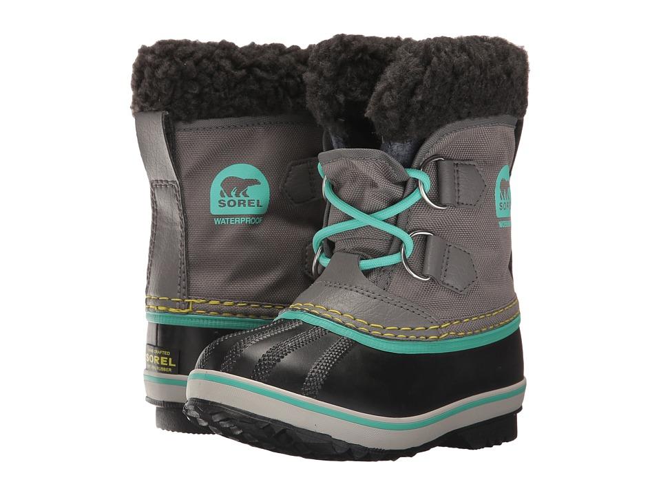 SOREL Kids Yoot Pac Nylon (Toddler/Little Kid) (Quarry/Dolphin) Girls Shoes