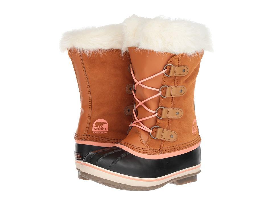 SOREL Kids Joan of Arctic (Little Kid/Big Kid) (Caramel/Summer Peach) Girls Shoes