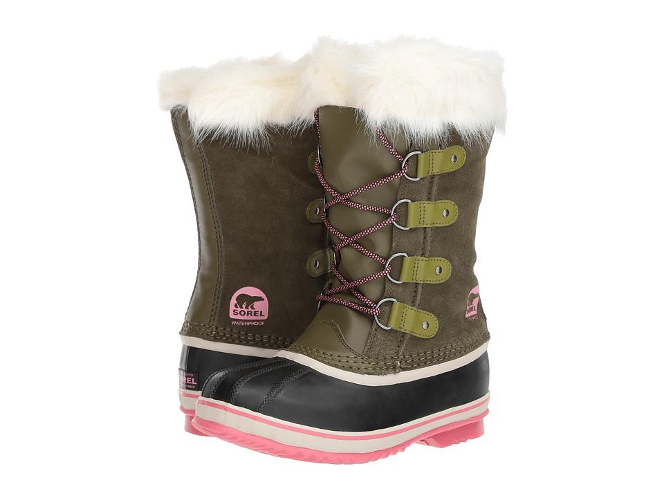 SOREL Kids Joan of Arctic (Little Kid/Big Kid) (Nori/Winter Rose) Girls Shoes
