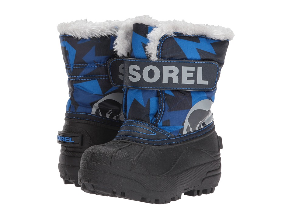 SOREL Kids Snow Commander Print (Toddler/Little Kid) (Abyss) Boys Shoes