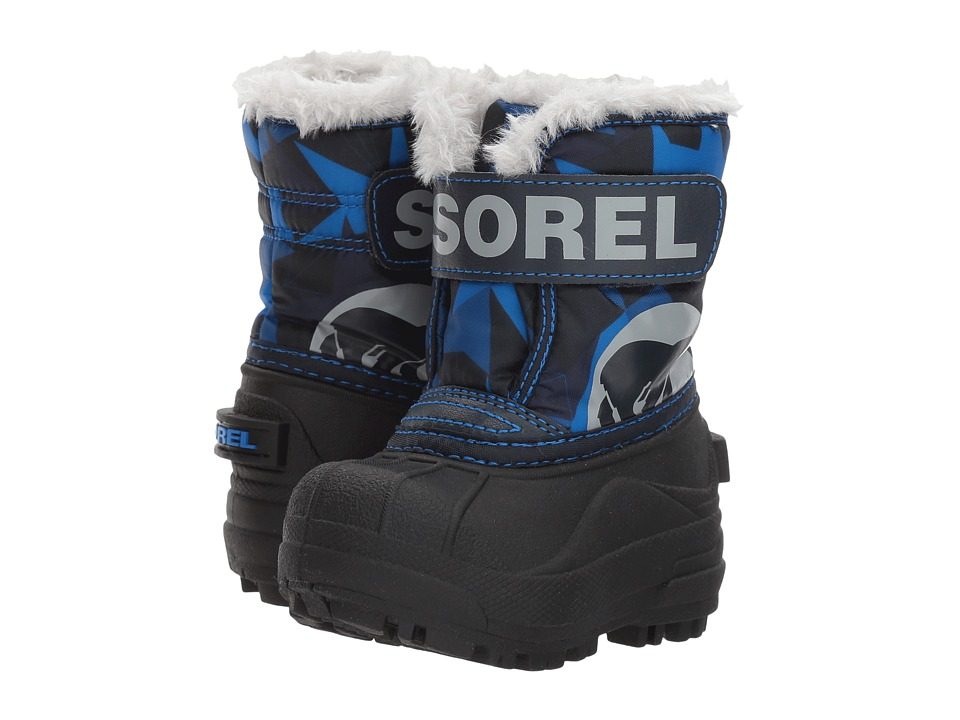 SOREL Kids Snow Commander Print (Toddler) (Abyss) Boys Shoes
