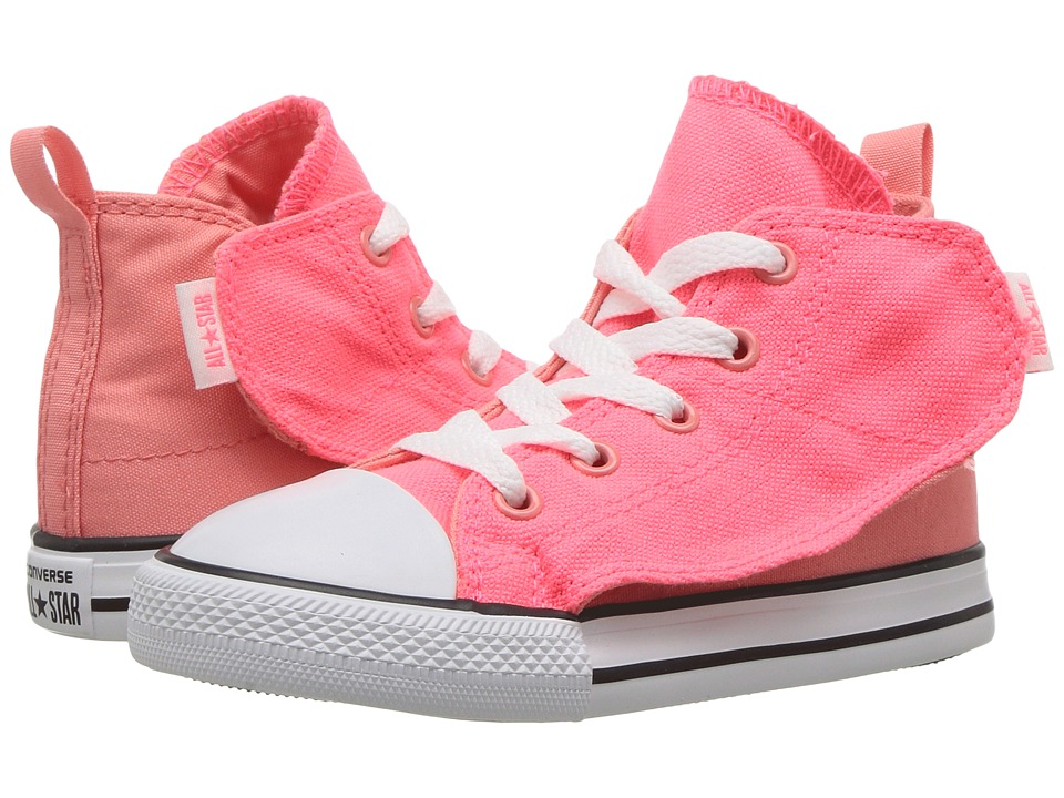 Converse Kids Chuck Taylor All Star Simple Step Hi (Infant/Toddler) (Hot Punch/White/Sunblush) Girl