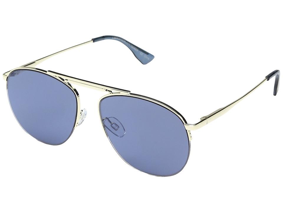 Le Specs - Liberation (Gold/Slate Mono Mirror) Sport Sunglasses