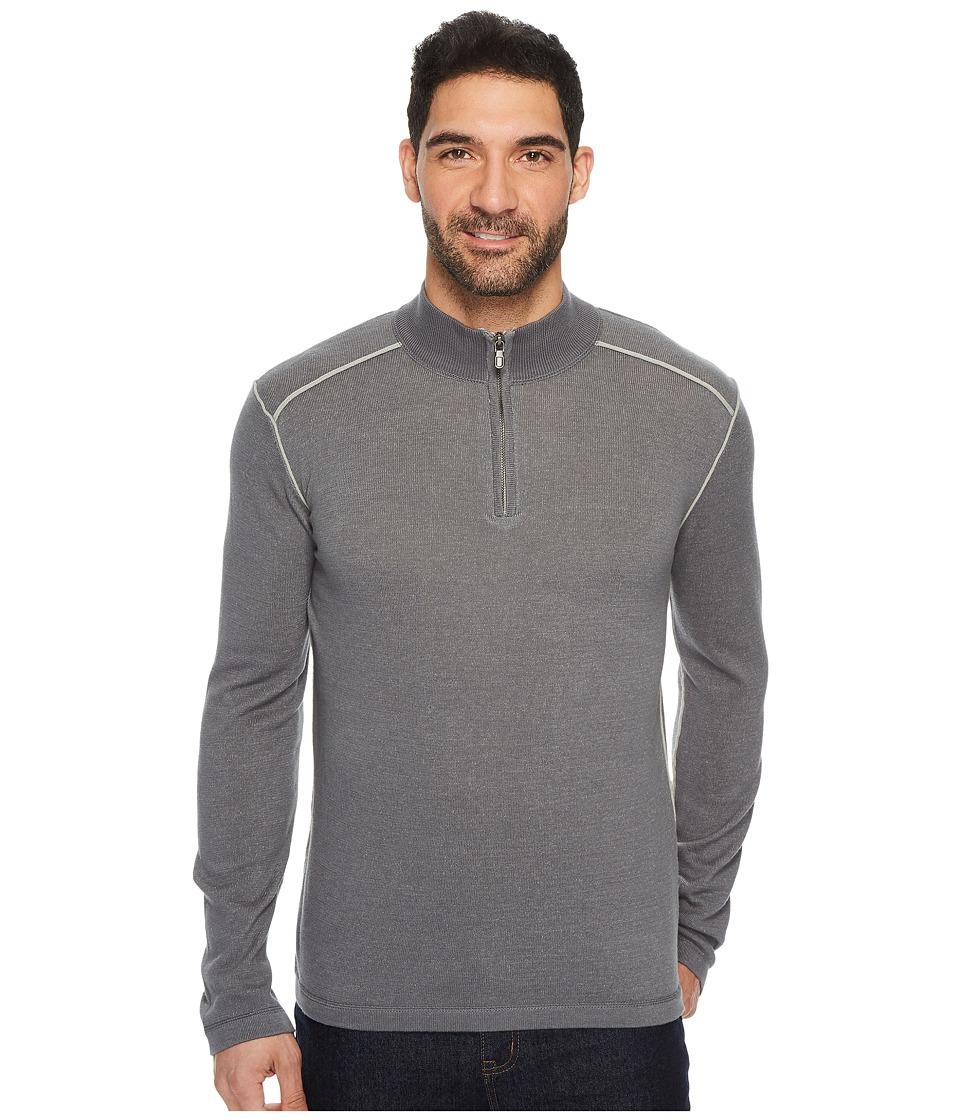 Ecoths Noah Zip Neck Sweater (Castlerock) Men