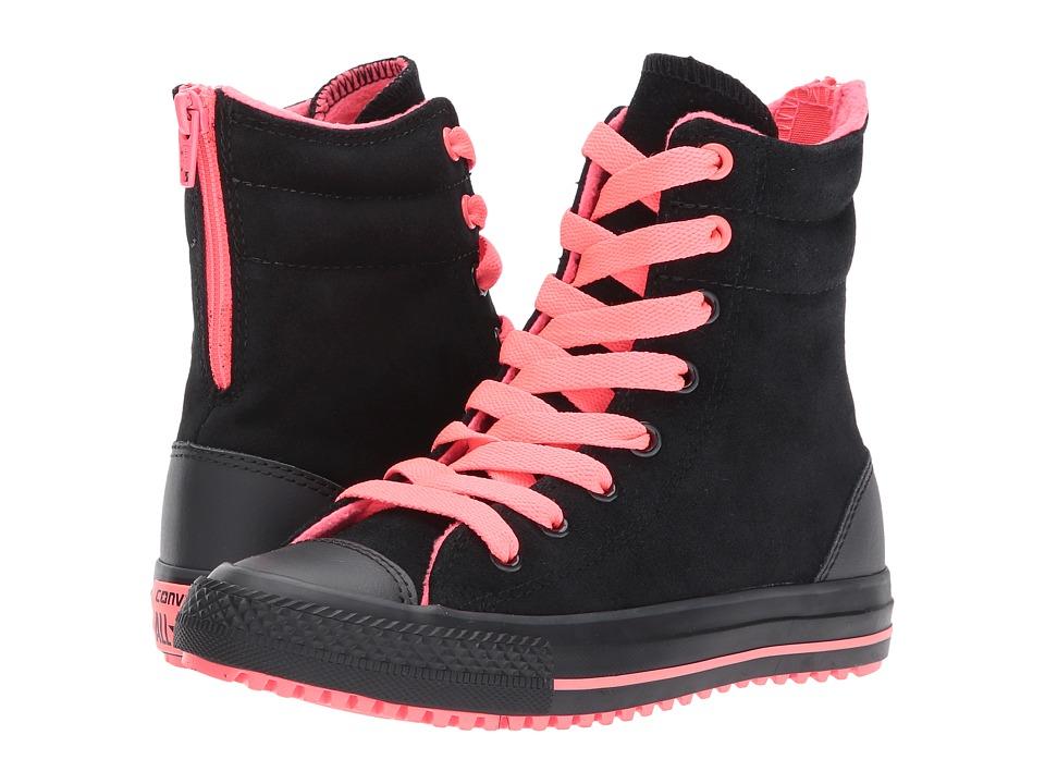 Converse Kids Chuck Taylor All Star X Hi-Rise Boot (Little Kid/Big Kid) (Black/Hot Punch/Almost Black) Girl