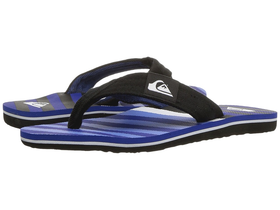 Quiksilver Kids - Molokai Layback (Toddler/Little Kid/Big Kid) (Black/Blue/White 1) Boys Shoes
