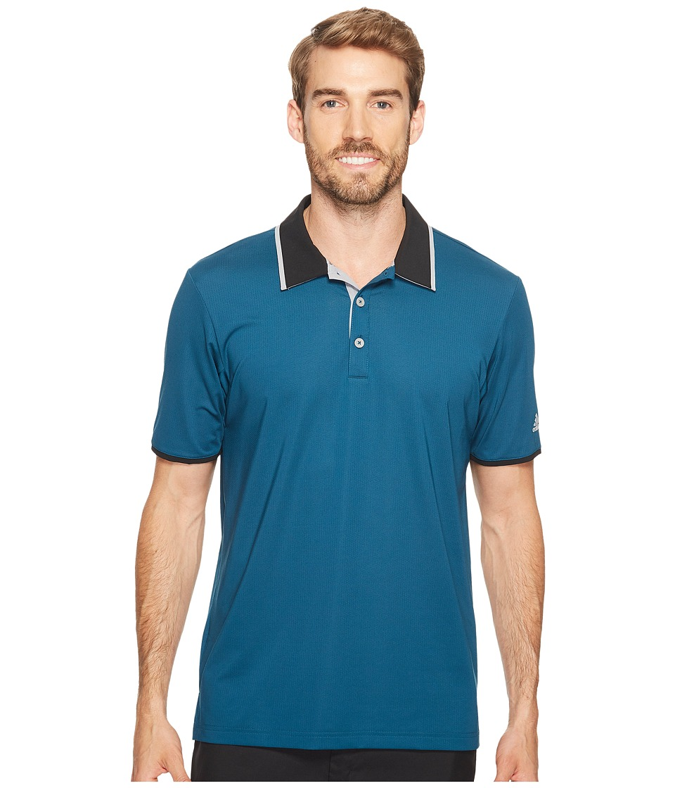 adidas Golf - Climacool Performance Polo (Petrol Night) Men's Short Sleeve Pullover