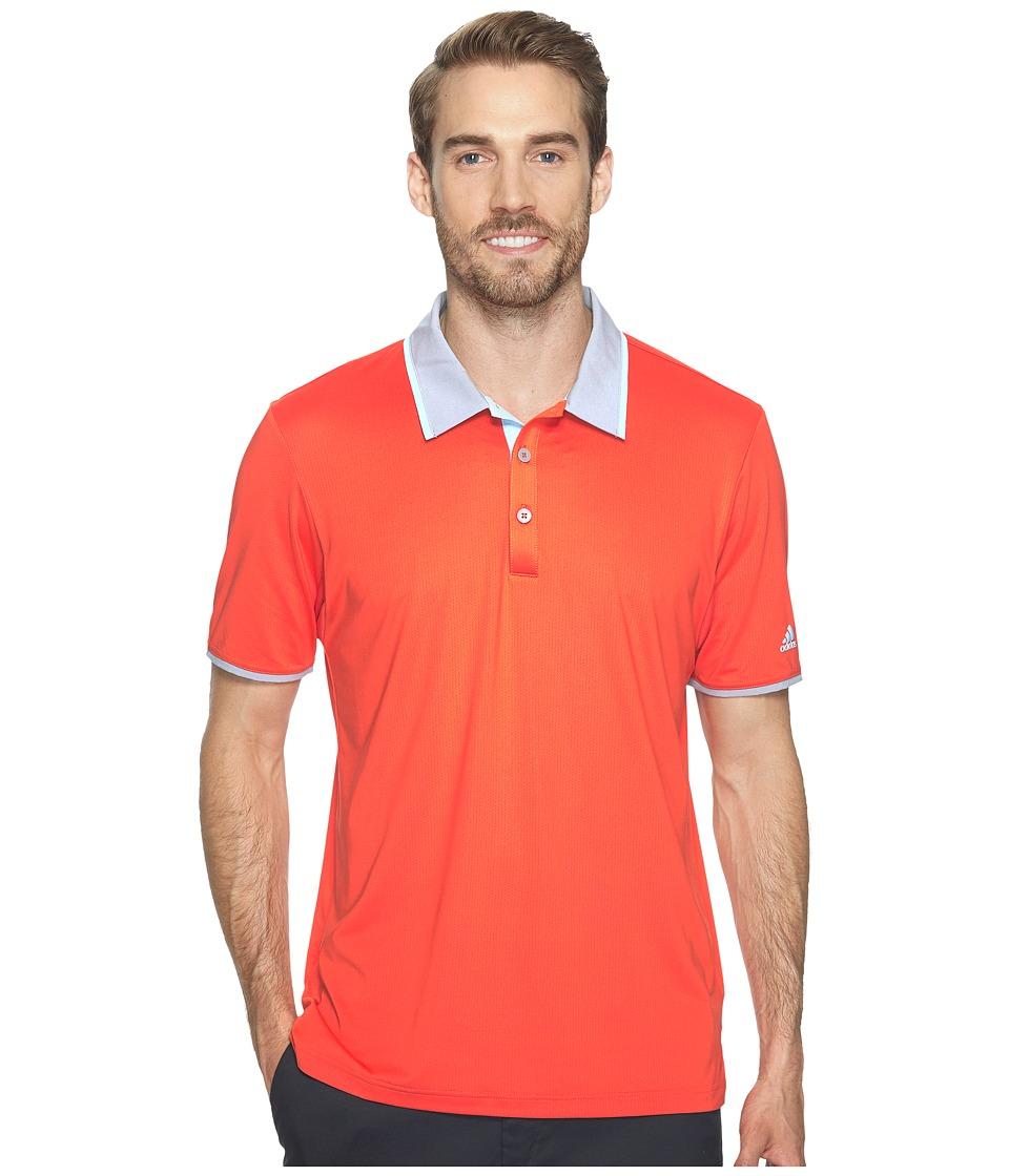 adidas Golf Climacool Performance Polo (Blaze Orange) Men