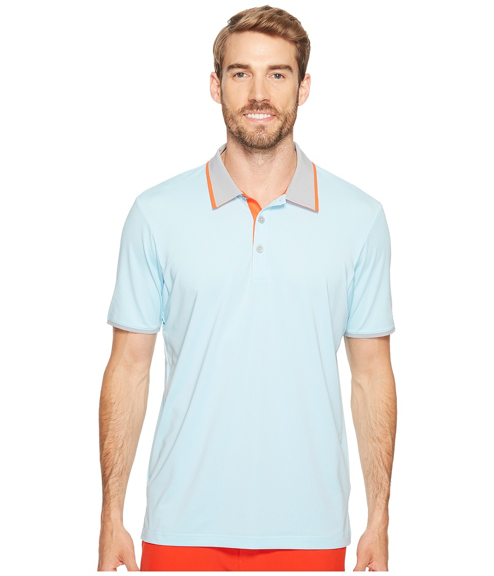 adidas Golf - Climacool Performance Polo (Icey Blue) Men's Short Sleeve Pullover