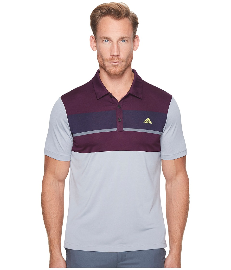 adidas Golf - climacool Engineered Block Polo (Black/Red Night/Noble Ink/Vista Grey) Men's Short Sleeve Pullover