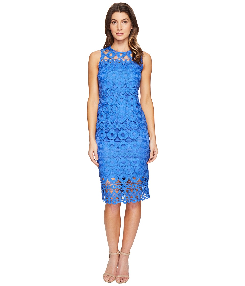 Taylor - Chemical Burnout Midi Dress (Lapis) Women's Dress