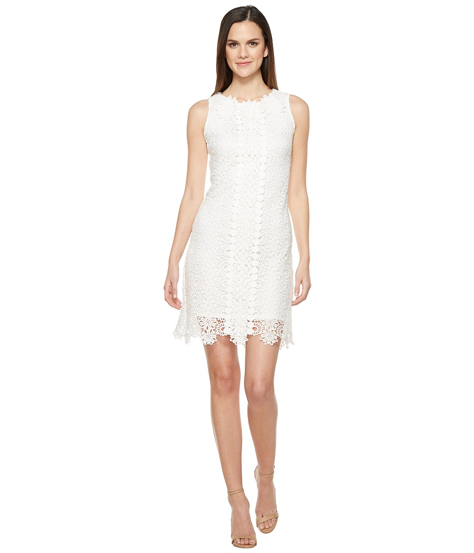 Taylor - Chemical Lace Shift Dress (White) Women's Dress