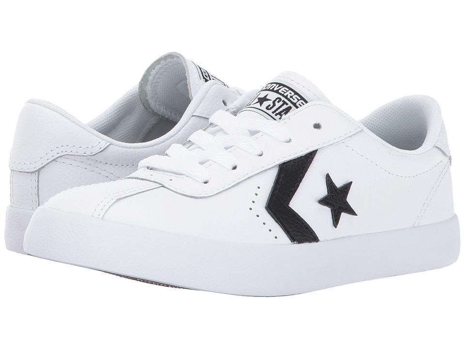 Converse Kids Breakpoint Leather Ox (Little Kid/Big Kid) (White/Black/White) Boy