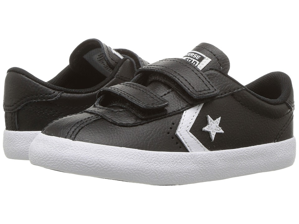 Converse Kids Breakpoint 2V Leather Ox (Infant/Toddler) (Black/White/Black) Boy