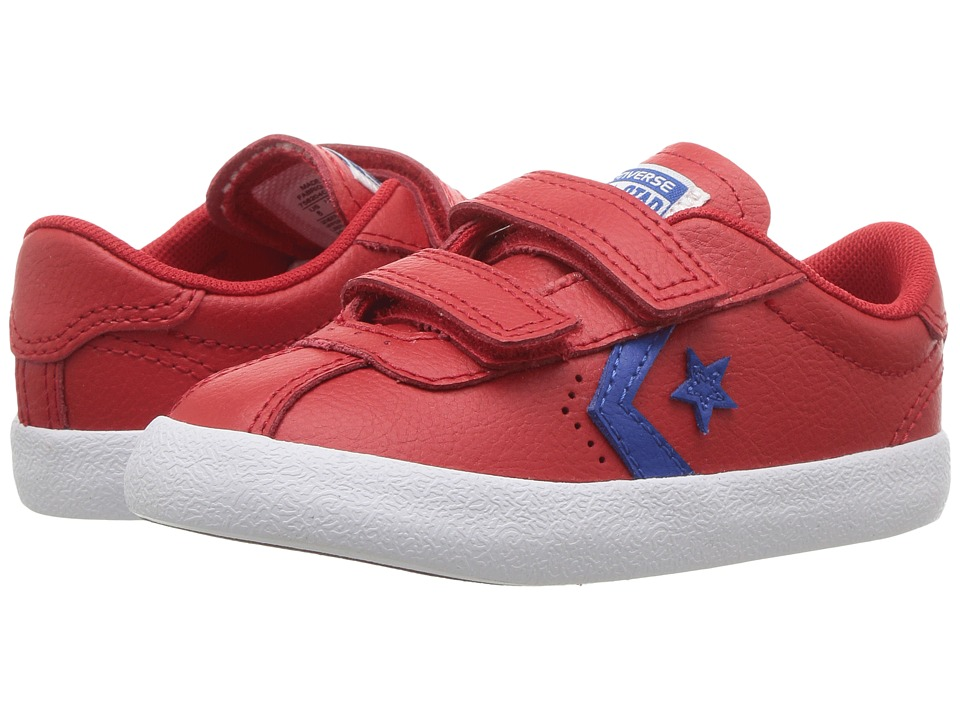 Converse Kids Breakpoint 2V Leather Ox (Infant/Toddler) (Casino/Blue Jay/White) Boy