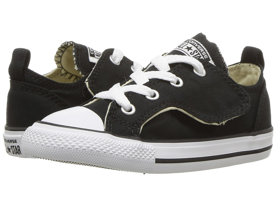 Converse Kids Chuck Taylor All Star Simple Step Ox (Infant/Toddler) (Black/White/Black) Boy