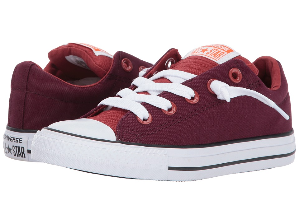 Converse Kids - Chuck Taylor All Star Street Slip (Little Kid/Big Kid) (Dark Sangria/Terra Red) Boy's Shoes