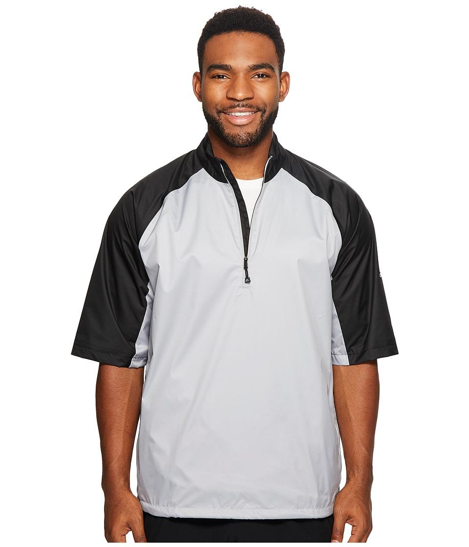 adidas Golf CLIMASTORM Provisional II Short Sleeve Rain Jacket (Mid Grey/Black) Men