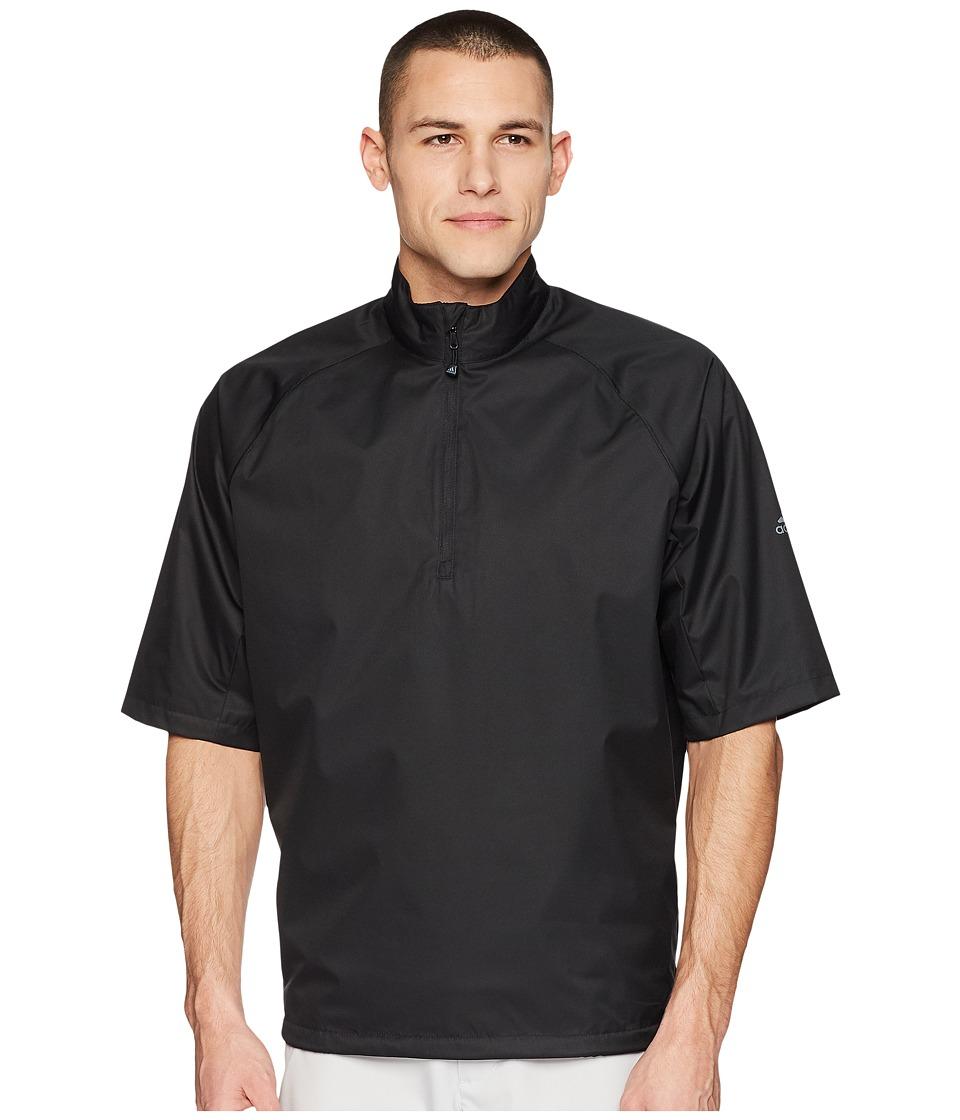 adidas Golf CLIMASTORM Provisional II Short Sleeve Rain Jacket (Black) Men