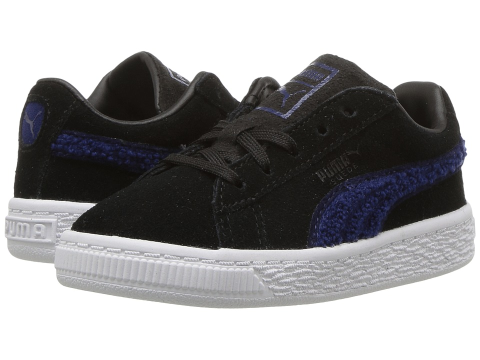 Puma Kids Suede Classic Terry (Toddler) (Puma Black/Blue Depths) Boys Shoes