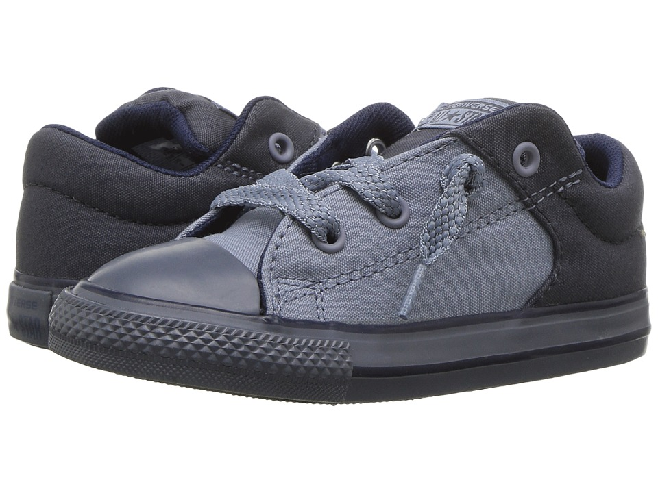 Converse Kids Chuck Taylor All Star High Street Slip (Infant/Toddler) (Sharkskin/Blue Slate/Midnight) Boy