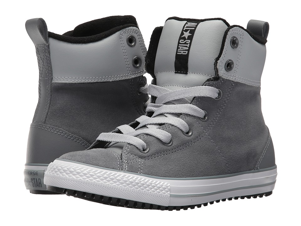Converse Kids Chuck Taylor All Star Asphalt Boot Hi (Little Kid/Big Kid) (Cool Grey/Wolf/Grey/Black) Boy