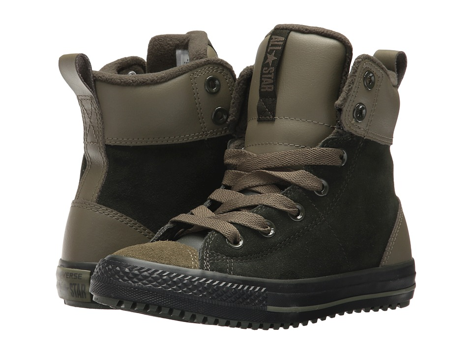 Converse Kids Chuck Taylor All Star Asphalt Boot Hi (Little Kid/Big Kid) (Sequoia/Medium Olive/Black) Boy