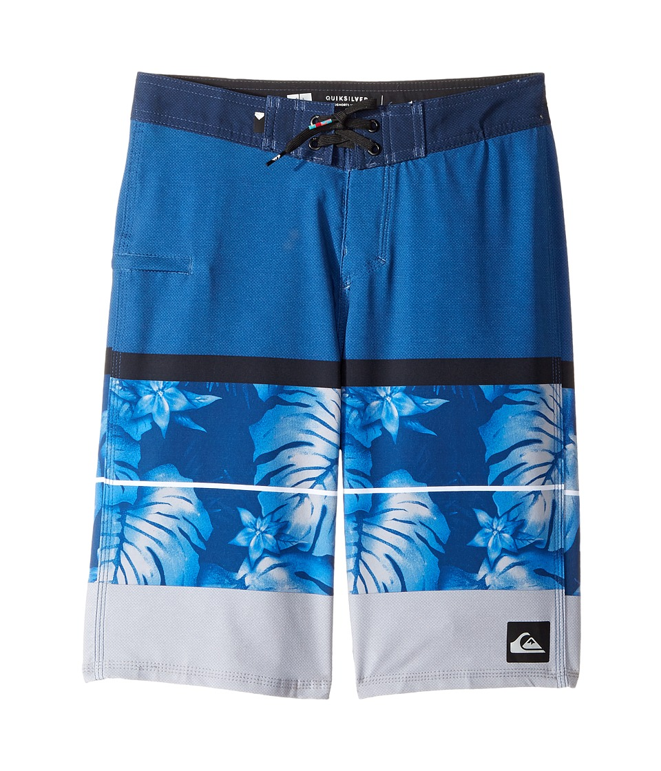 Quiksilver Kids Slab Prints Vee Boardshorts (Big Kids) (Turkish Sea) Boy