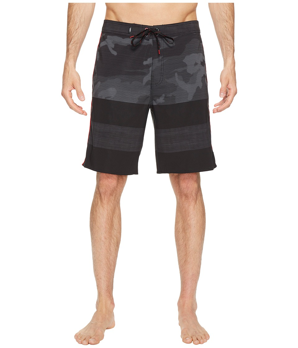 Vans - Era Stretch Boardshorts 20 (Black/Nathan Florence) Men's Swimwear