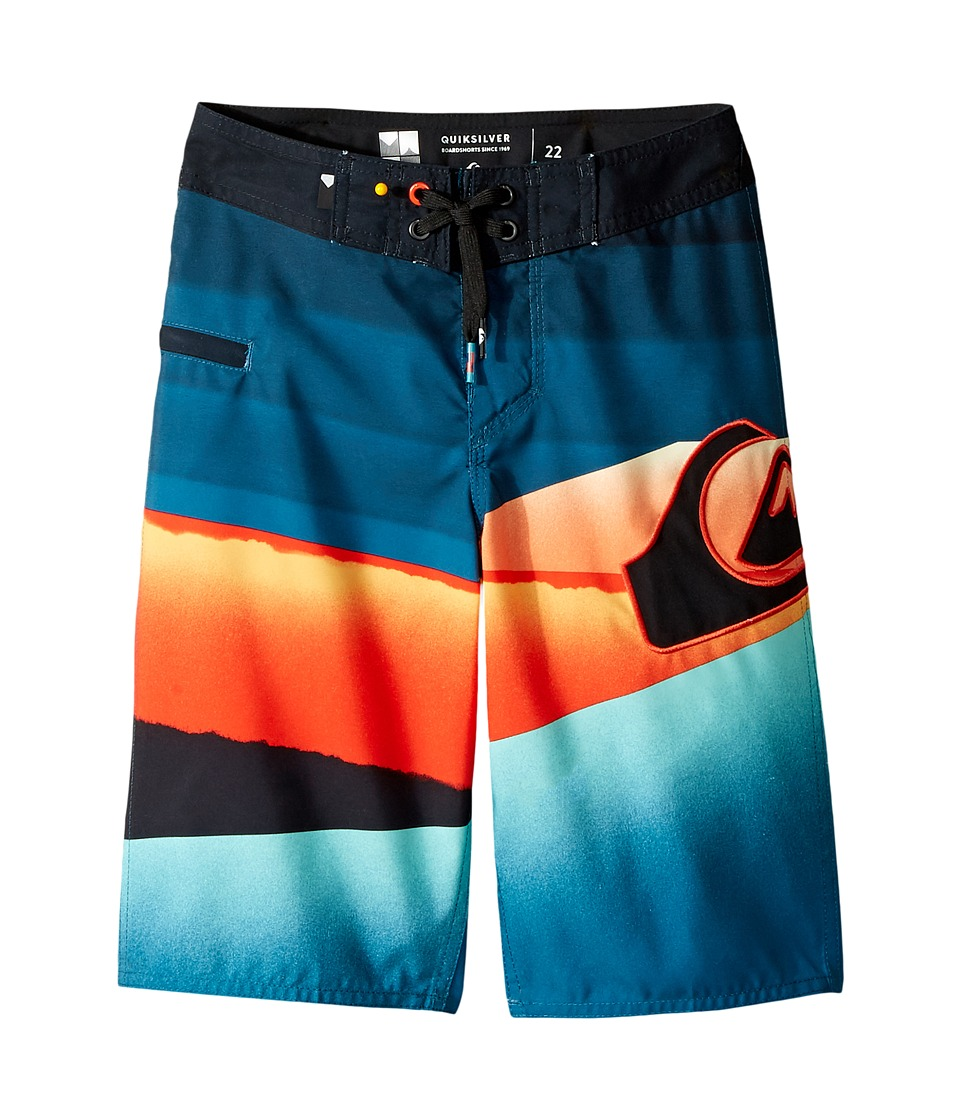 Quiksilver Kids Slash Logo Boardshorts (Big Kids) (Moroccan Blue) Boy
