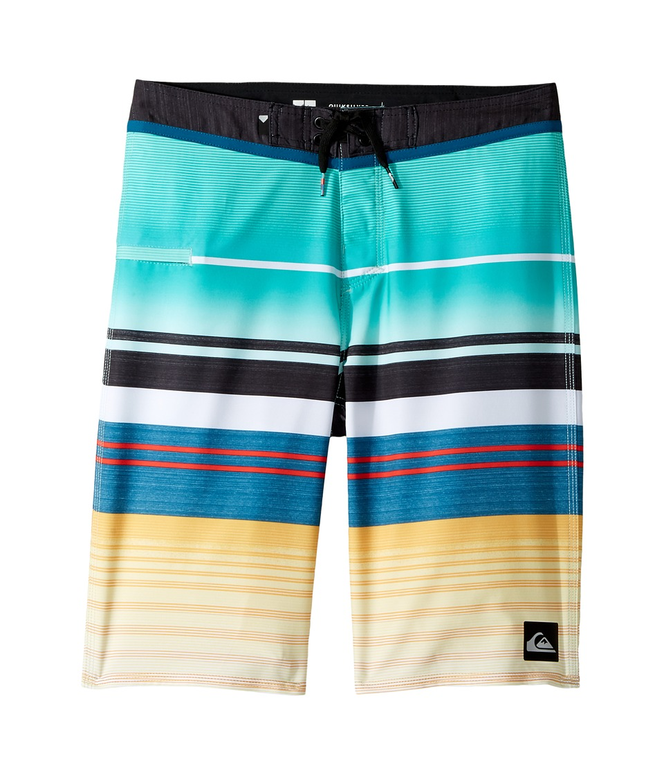 Quiksilver Kids Everyday Stripe Vee Boardshorts (Big Kids) (Pool Blue) Boy