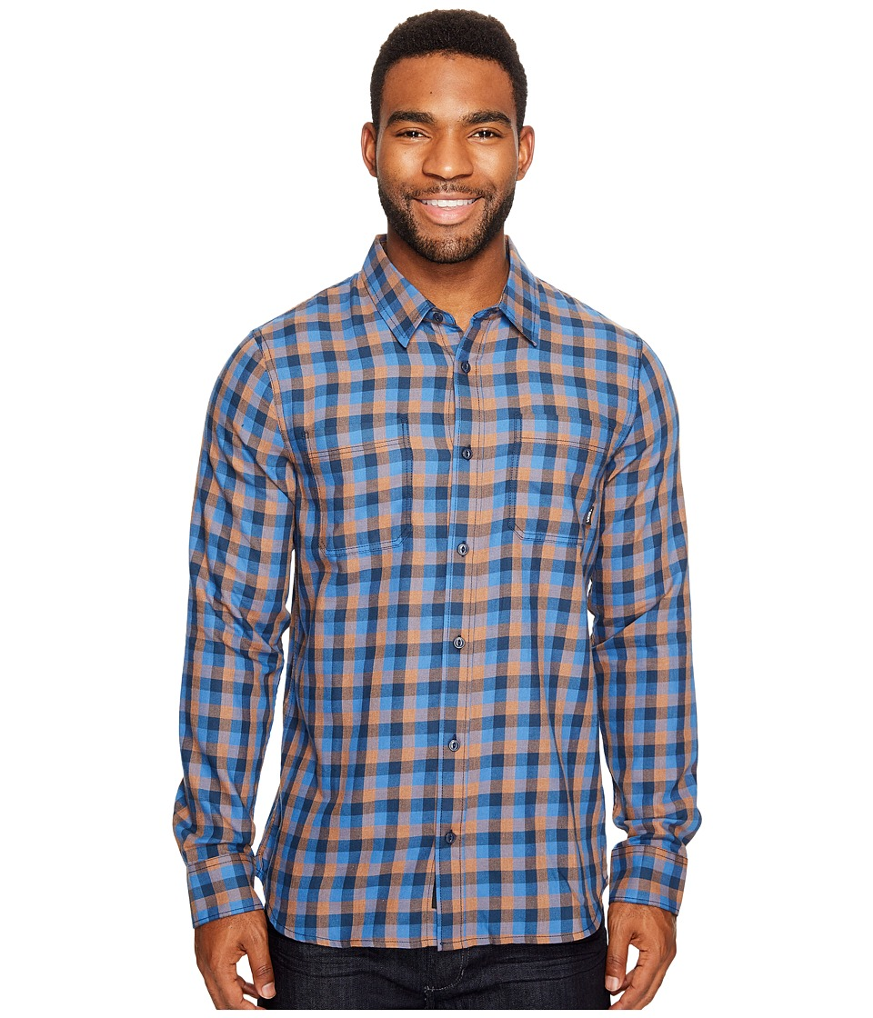 Vans - Alameda II Long Sleeve Woven Top (Dress Blues/Delft) Men's Long Sleeve Button Up
