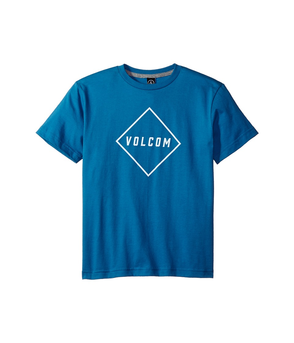 Volcom Kids - Pitcher Short Sleeve Tee (Big Kids) (Deep Water) Boy's T Shirt