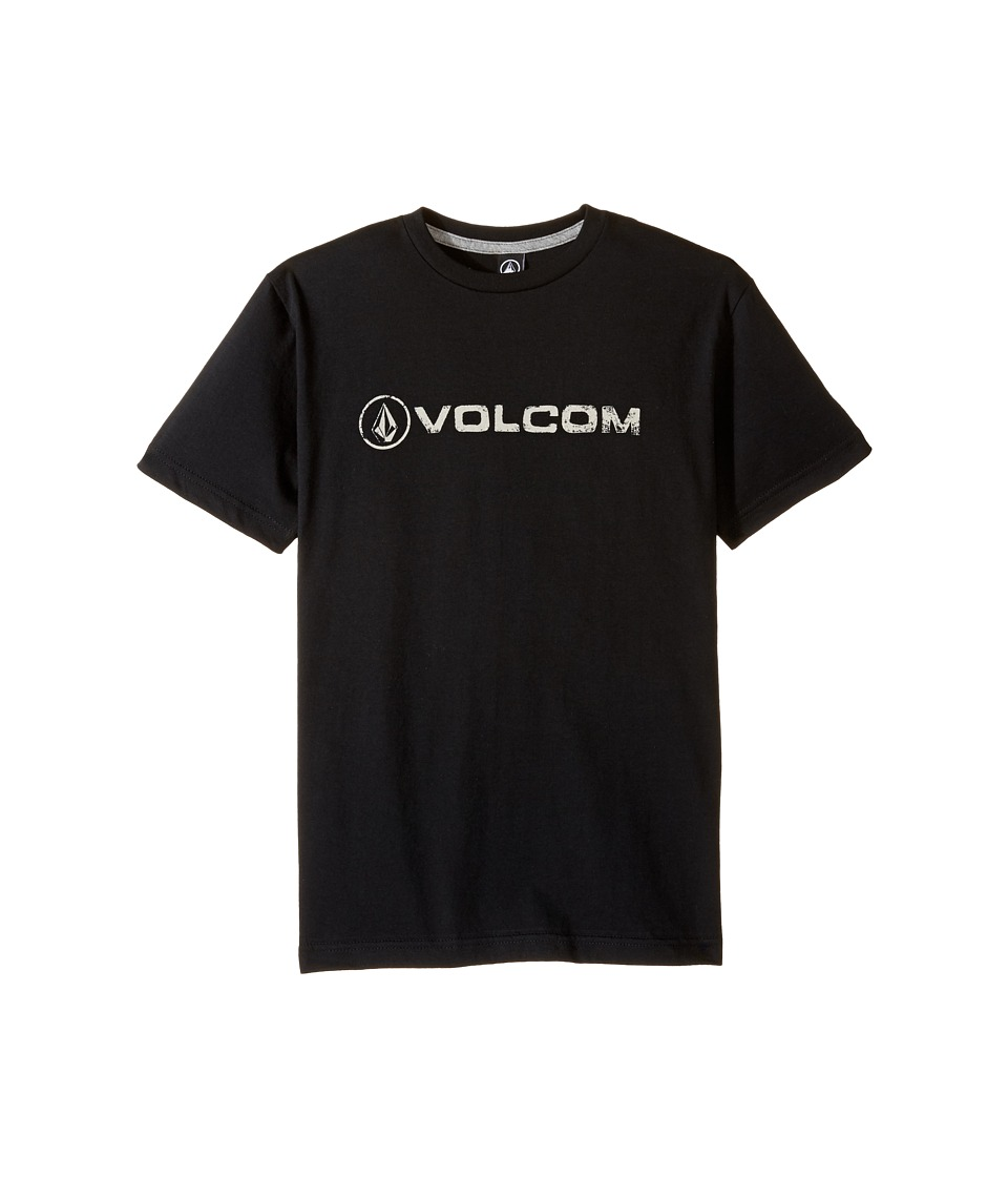 Volcom Kids - Lino Euro Short Sleeve Tee (Big Kids) (Black) Boy's T Shirt
