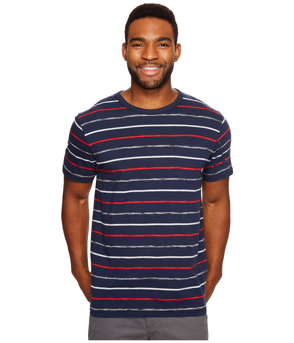 Vans - Strikemont II Short Sleeve Crew Top (Dress Blues) Men's Short Sleeve Knit