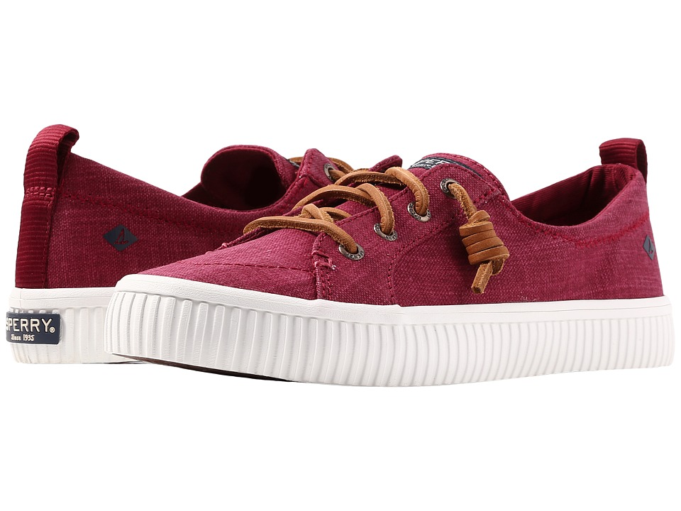 Sperry Crest Vibe Creeper Scratch Linen (Rosewood) Women