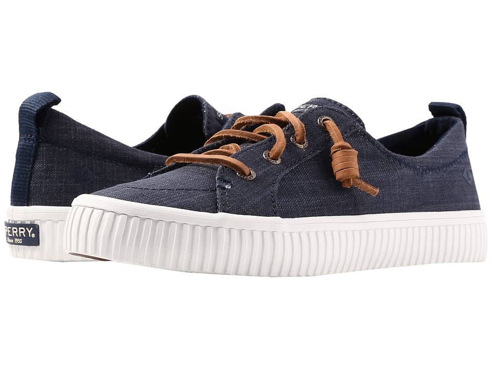 Sperry Crest Vibe Creeper Scratch Linen (Navy) Women