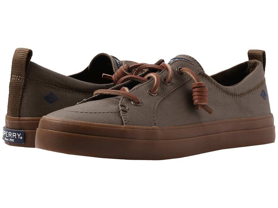 Sperry Crest Vibe Waxed (Dark Olive) Women