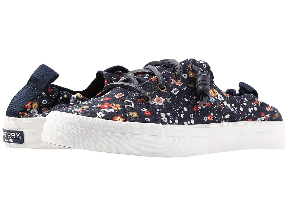 Sperry - Crest Ebb Print (Navy Multi/Floral) Women's Shoes
