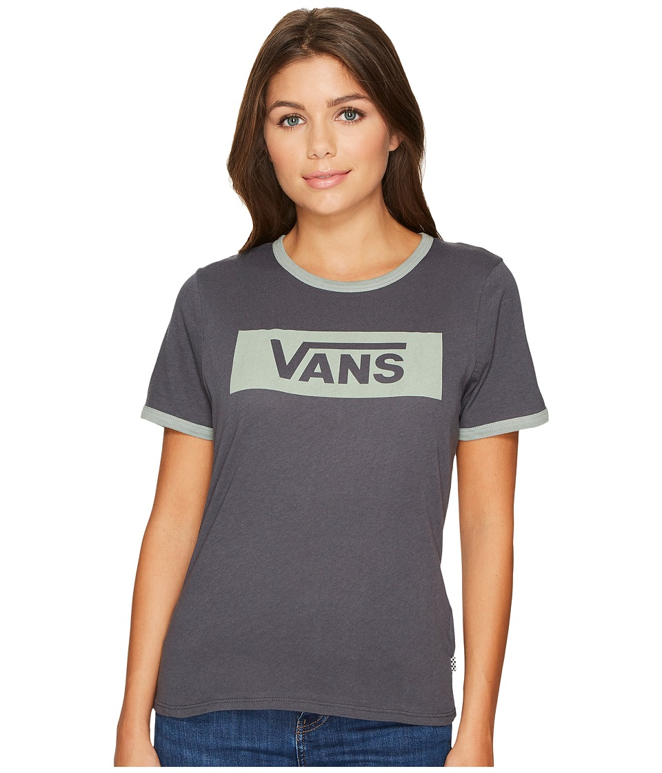 Vans - V-Tangle Ringer Top (Asphalt/Sea Spray) Women's Short Sleeve Pullover