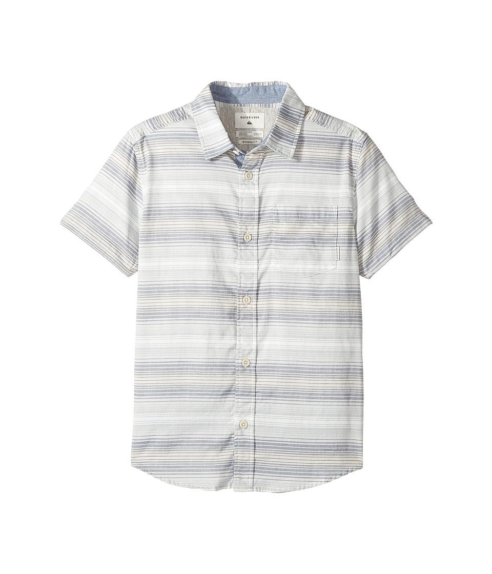 Quiksilver Kids - Aventail Short Sleeve Shirt (Big Kids) (Dark Denim) Boy's Short Sleeve Button Up