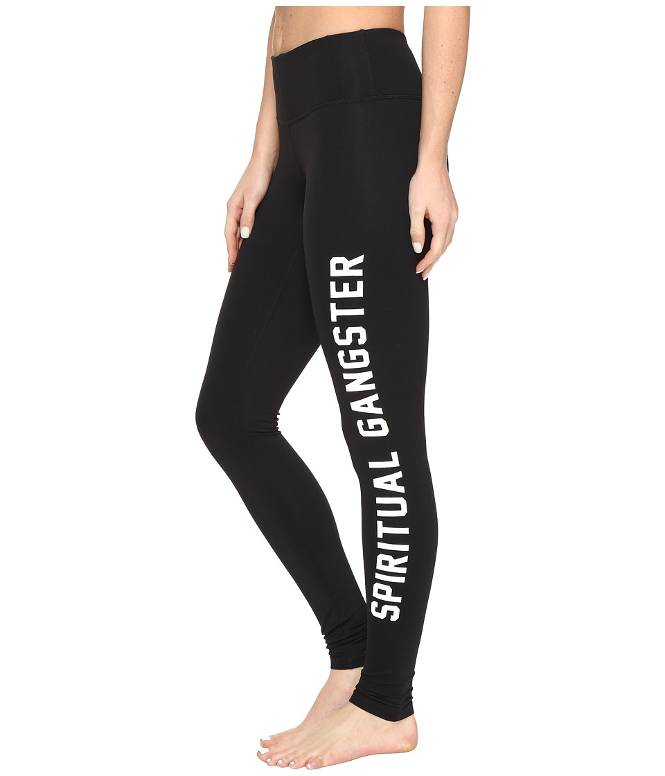 Spiritual Gangster - Collegiate Leggings (Black) Women's Workout