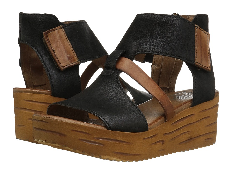 Miz Mooz - Zenon (Black) Women's Wedge Shoes