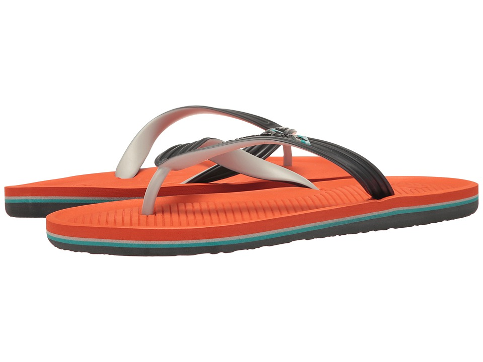 Quiksilver - Haleiwa (Grey/Orange/Grey) Men's Sandals